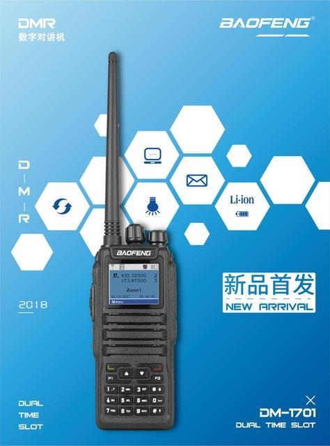 Baofeng DM-1701 dual band 1 77 inch 136-174/400-480Mhz digital radio