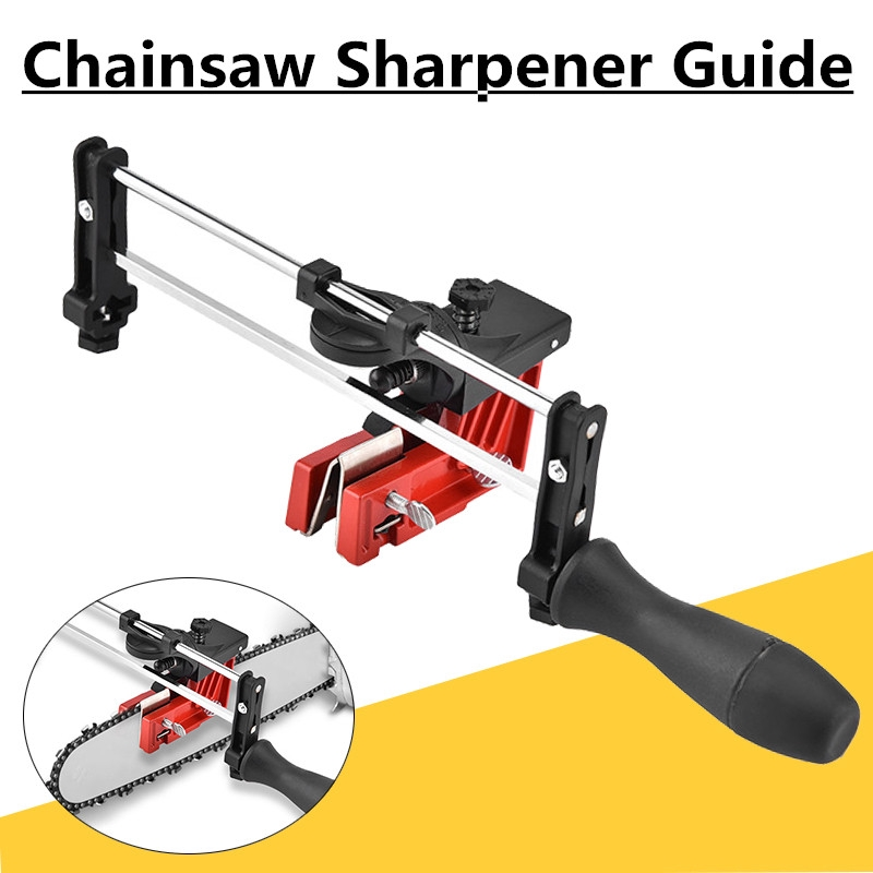 Bar Mounted Manual Chain Sharpener Chainsaw Saw Chain Filing Guide Too