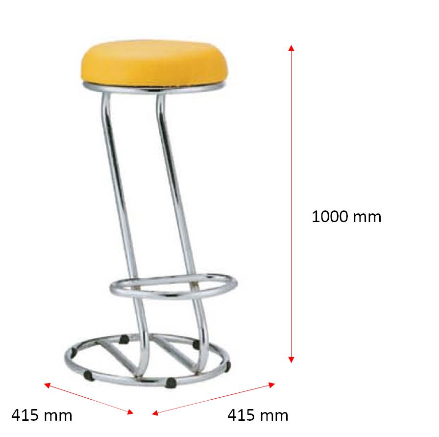 Bar Stool Chair|Steel Furniture|Makatas Barsto lHigh Bar Stool-Epoxy
