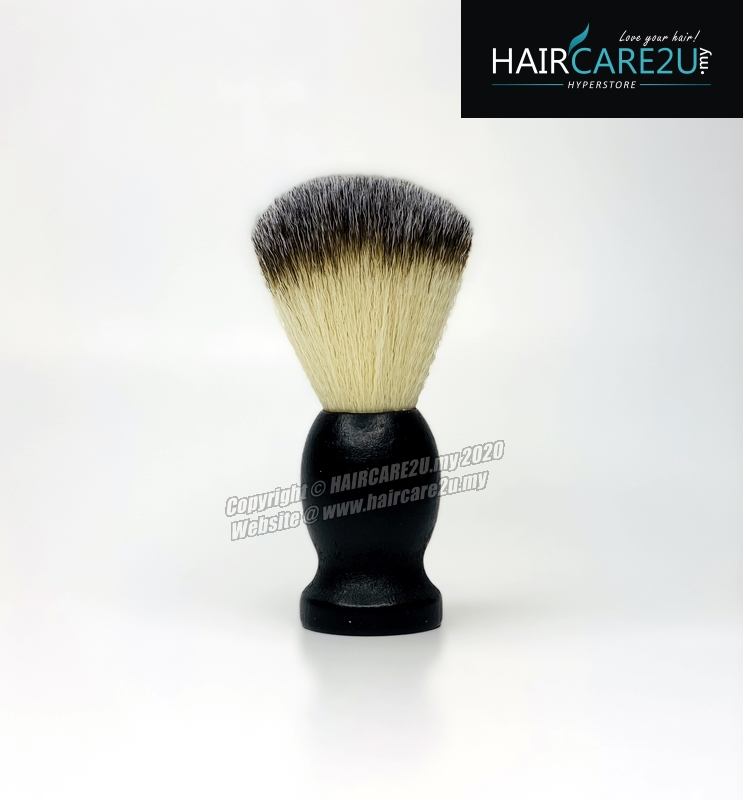 Barbershop Black Wooden Mustache Soft Neck Face Duster Badger Brush