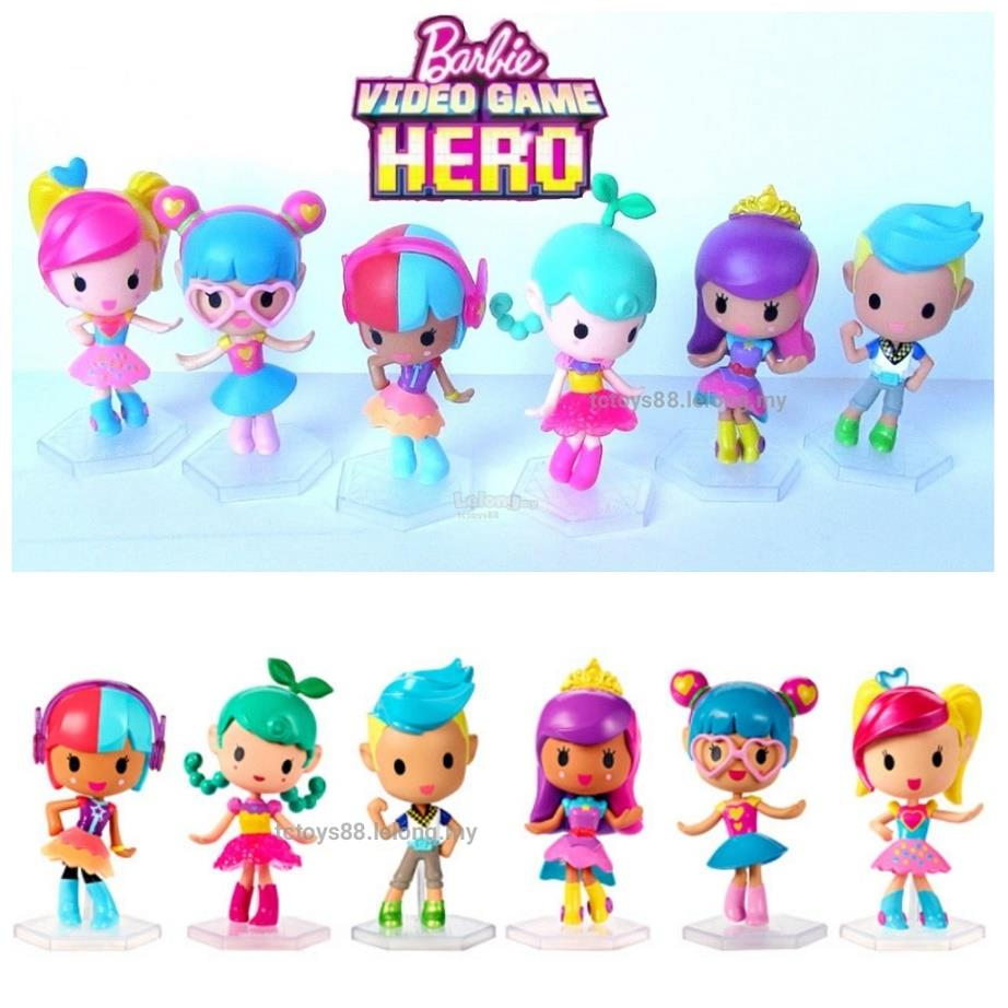 BARBIE Video Game Hero Figures. LARGE 12cm Barbie Figurine Doll Toys