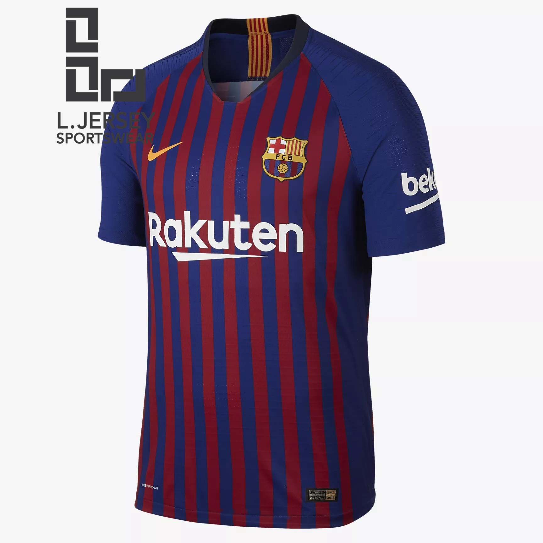 size 40 73a0e 94897 Barcelona Men Home 2018/19 Vaporknit Player Jersey