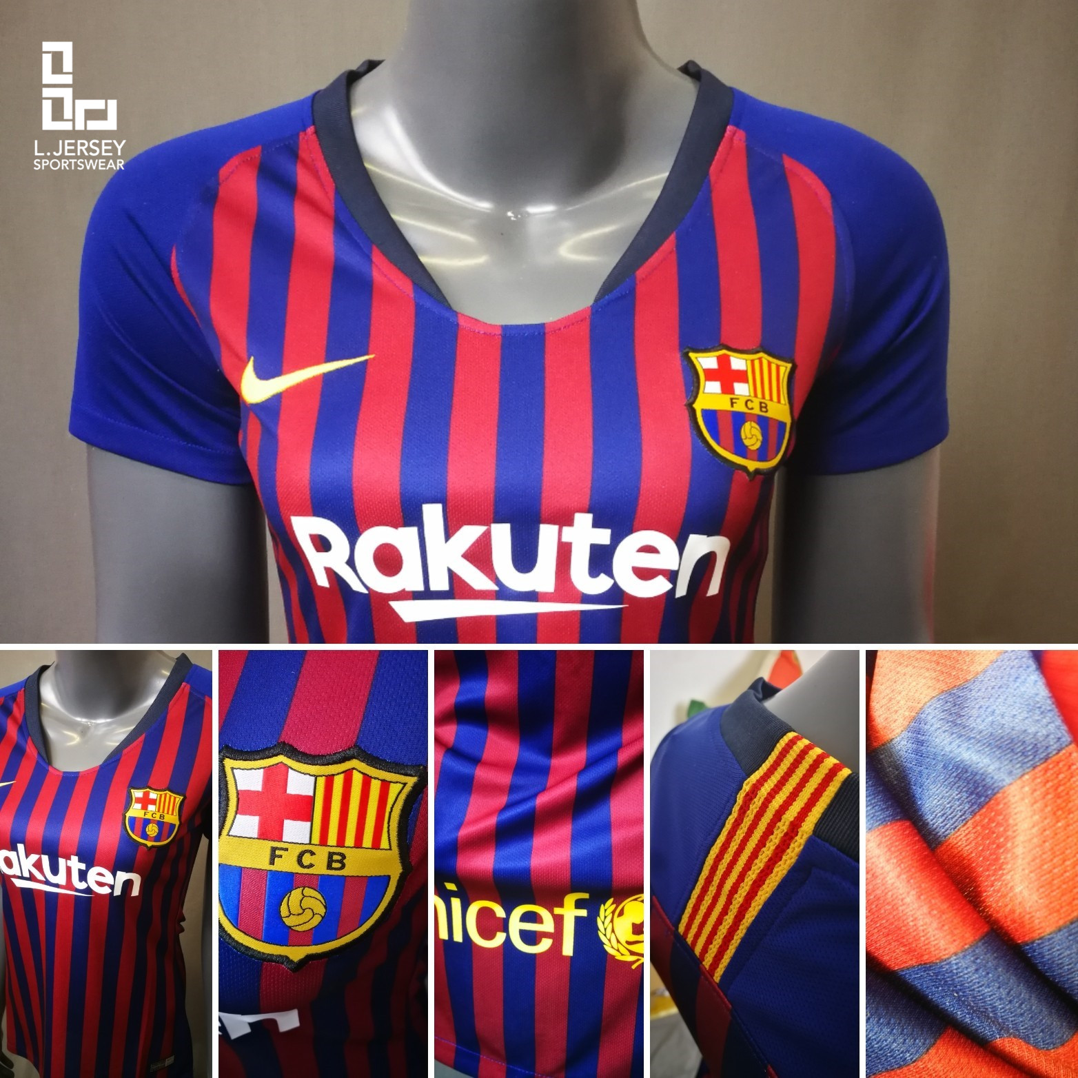 Barcelona Women Home 2018 19 Fans J (end 4 27 2021 12 00 AM) fad414735a