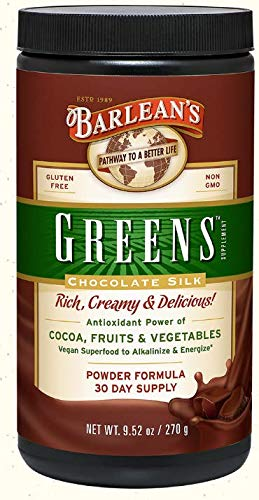 Barlean's Chocolate Silk Greens Powder, Pack of 2
