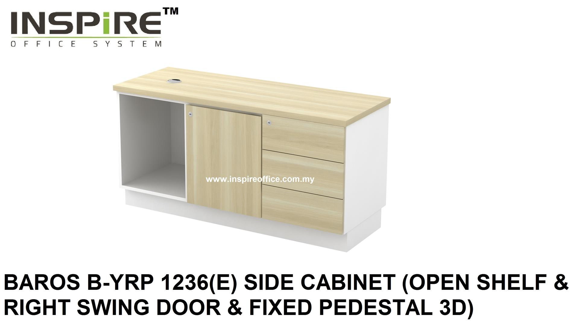 BAROS B-YRP 1236(E) SIDE CABINET (SHELF & SWING DOOR & PEDESTAL)
