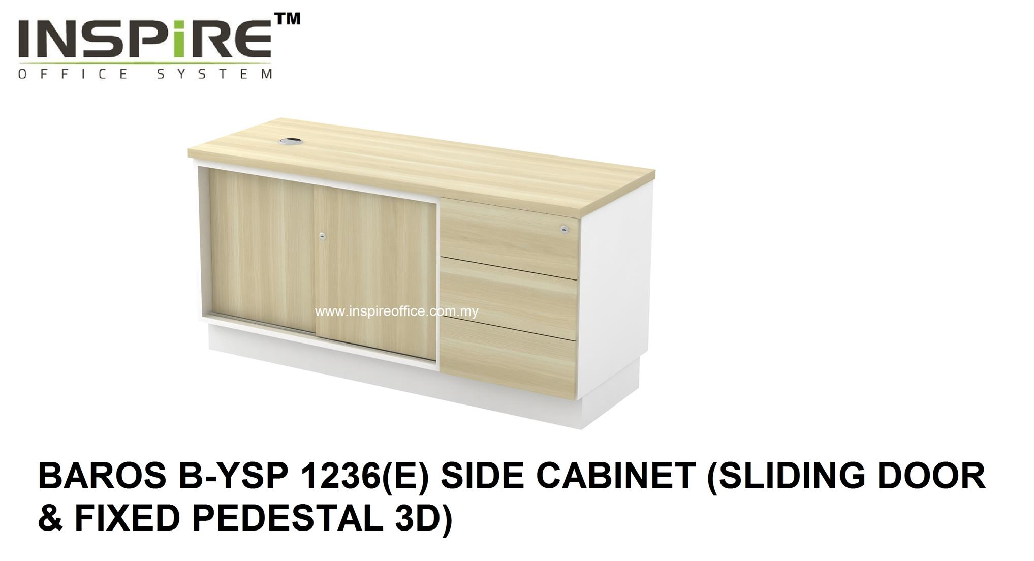 BAROS B-YSP 1236(E) SIDE CABINET (SLIDING DOOR & FIXED PEDESTAL 3D)