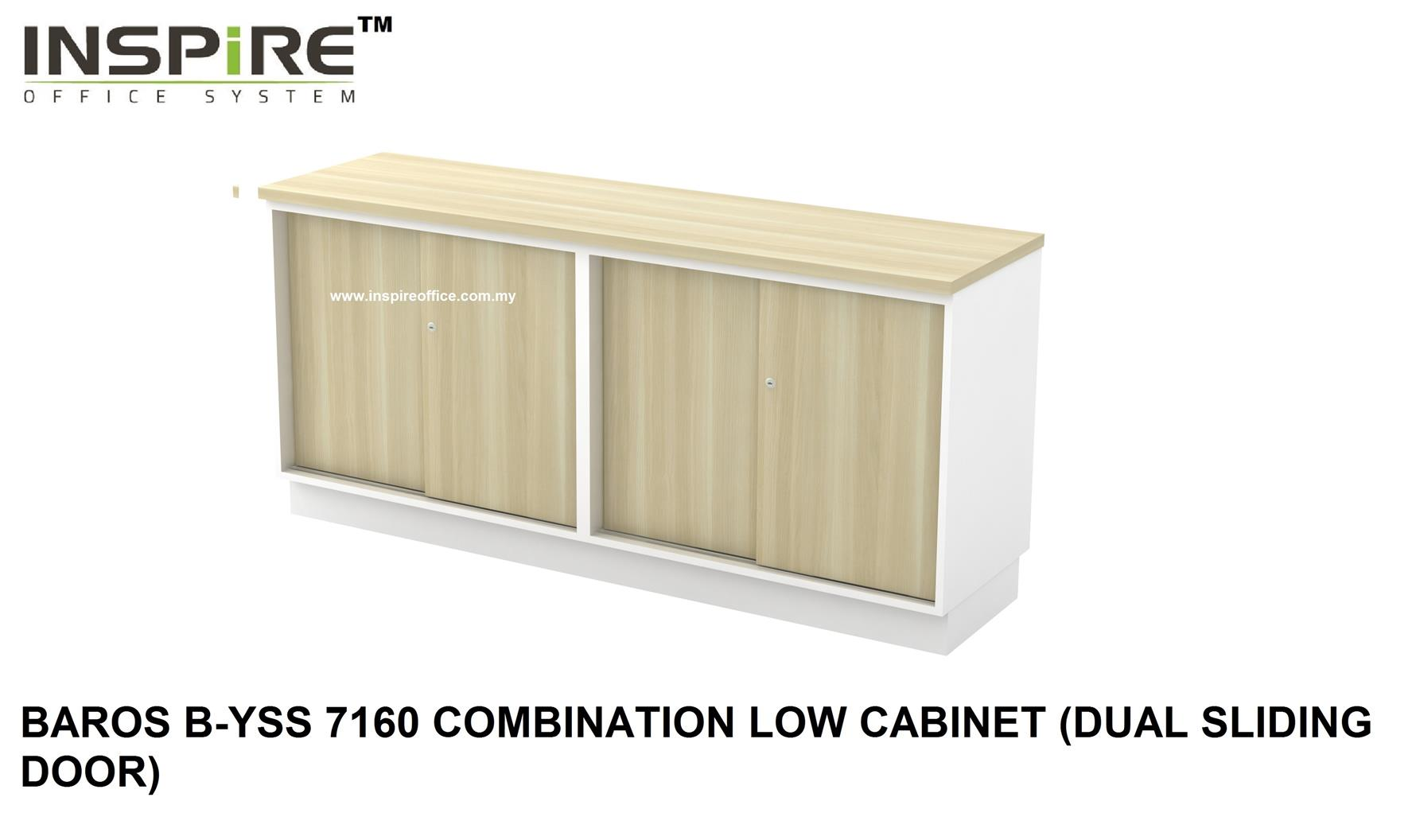 BAROS B-YSS 7160 COMBINATION LOW CABINET (DUAL SLIDING DOOR)