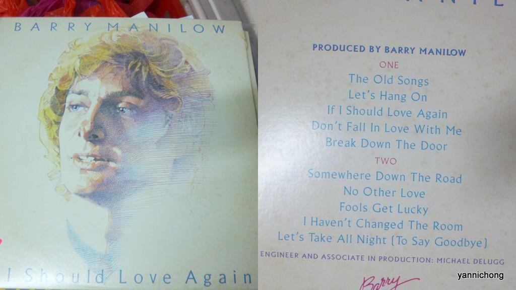 BARRY  MANILOW VINYL RECORD LP