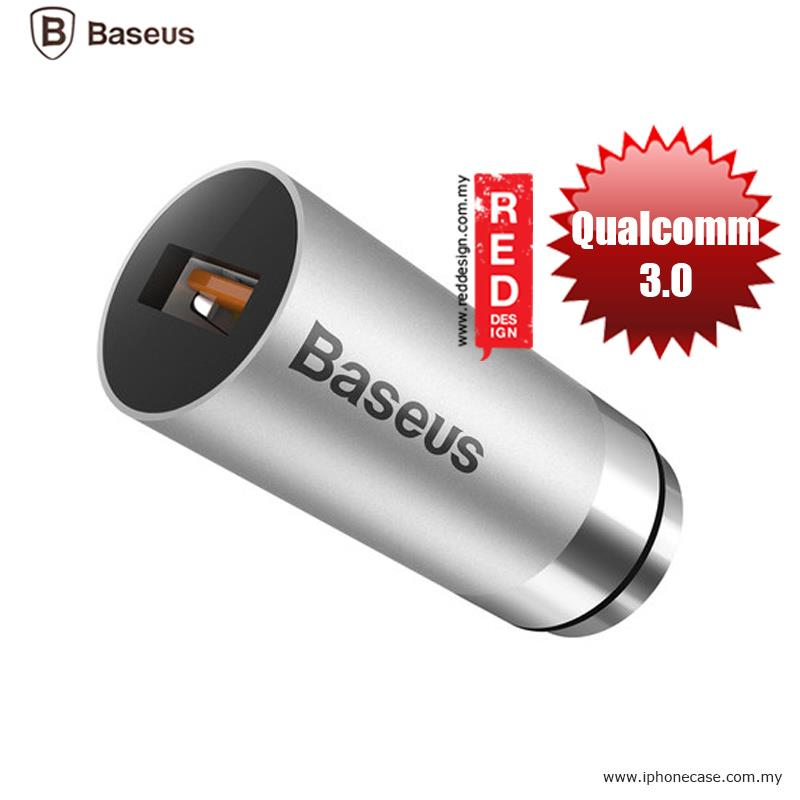 Baseus CarQ Series Qualcomm Quick Charge 3.0 Car Charger - Silver