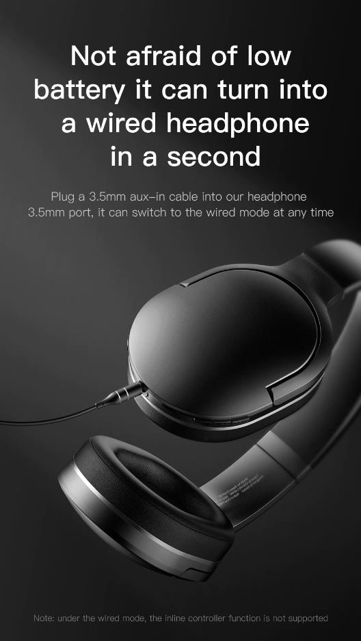 Baseus D02 Bluetooth Headphone Foldable bluetooth headset