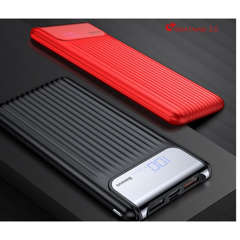 Baseus Digital Dispay 10000mAh Power Bank QC 3.0 Dual USB