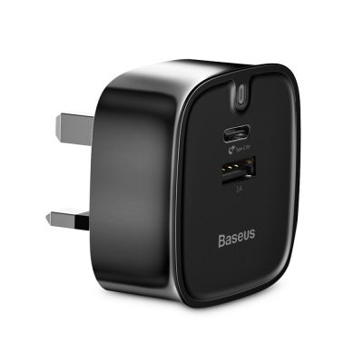 Baseus Funzi Type-C PD 3.0 + USB Fast Charger 30W (BLACK)