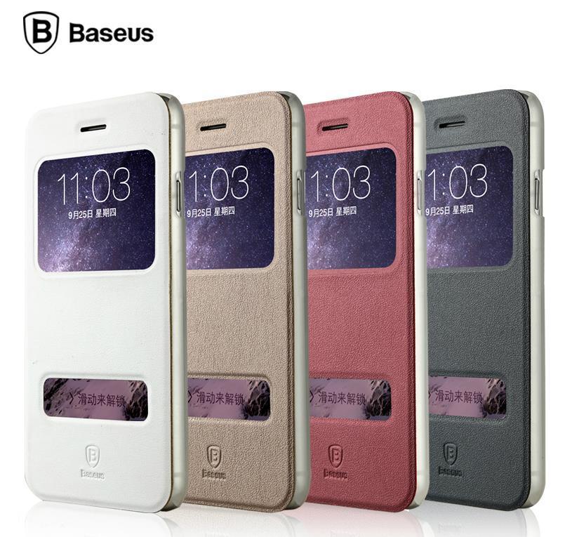 new arrival 0f3c6 10983 Baseus iPhone 6 6S Plus 4.7 5.5 Mile Series Flip Case Cover Casing