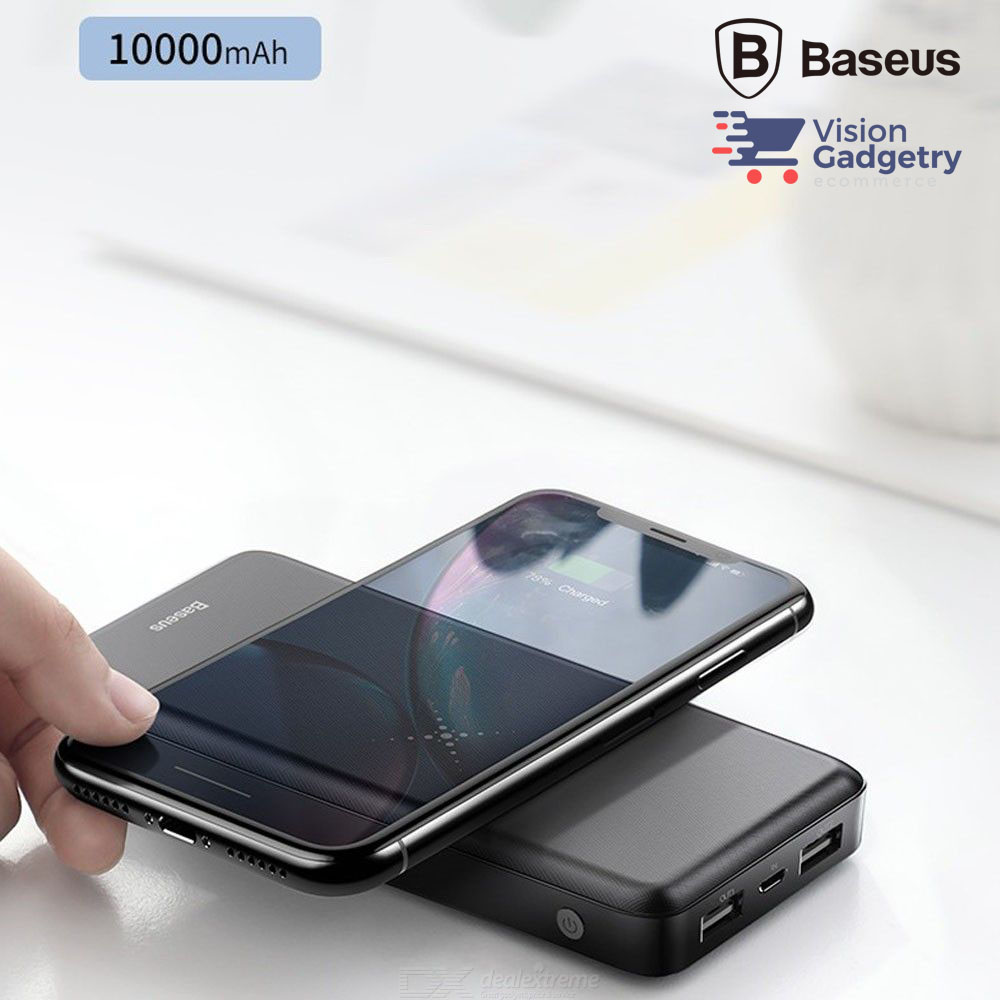 Baseus M36 Wireless Powerbank Charger 10000mah Dual USB