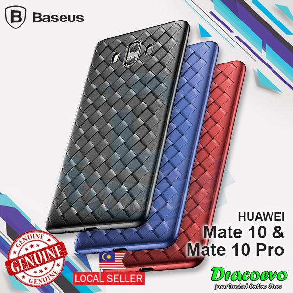 Baseus Plaid Grid Luxury Weave Protection Case For Huawei Mate 10/Pro