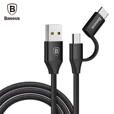 Baseus Yiven 2A Type-C Adapter Micro USB Data Cable 1M