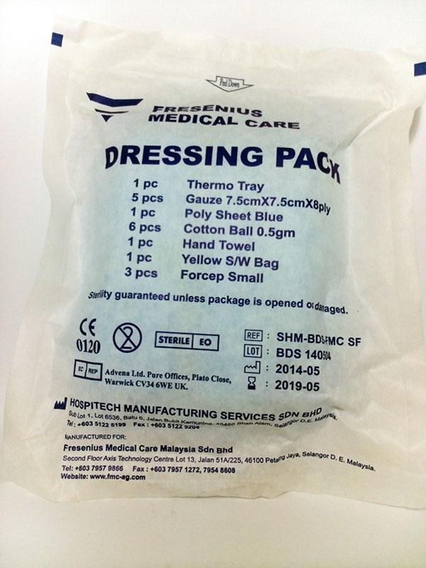 BASIC DRESSING SET (DRESSING PACK) FOR CLEANING WOUNDS
