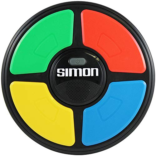 Basic Fun Simon Electronic Game with Digital Screen and Built-In Counter, 9-In