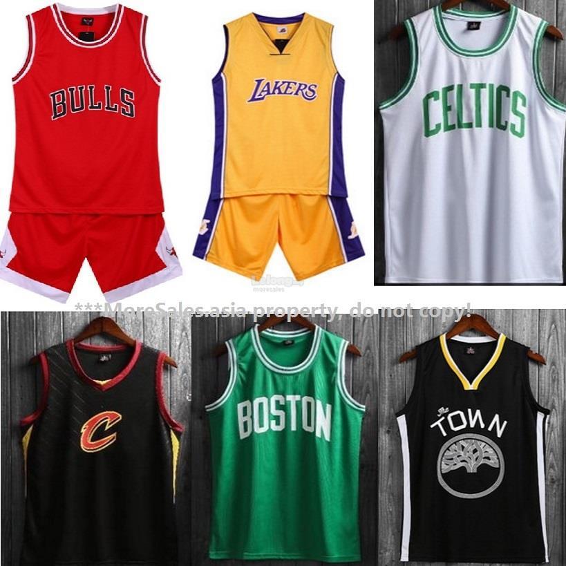 pretty nice 53570 c618c BasketBall Jersey top + Shorts short pants set bulls lakers spurs cavs