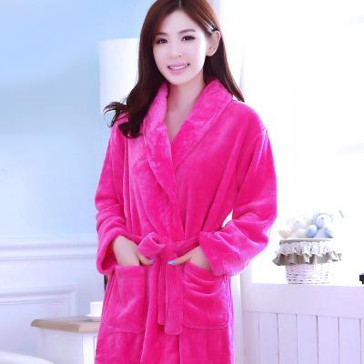 Bath Robes Coral Fleece White, Pink, Dark Pink