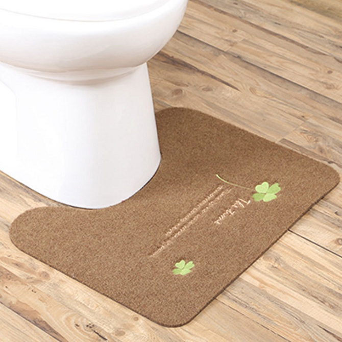 Bathroom Toilet Mats Non Slip Rug U Shape