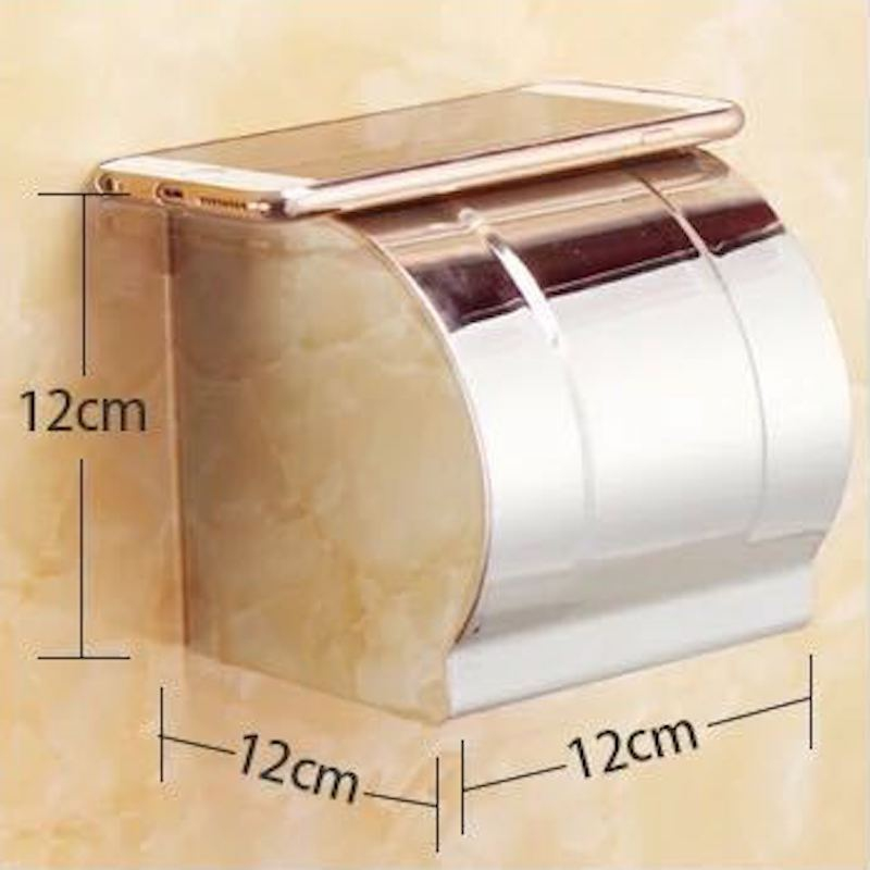 Bathroom Toilet Paper Tissue Roll Holder Box Storage Shelf Towel Wall