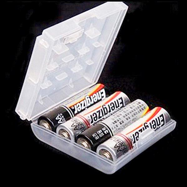 2A Battery Case Clear Box Holder 2AA / 3AAA Cell Battery Storage Box