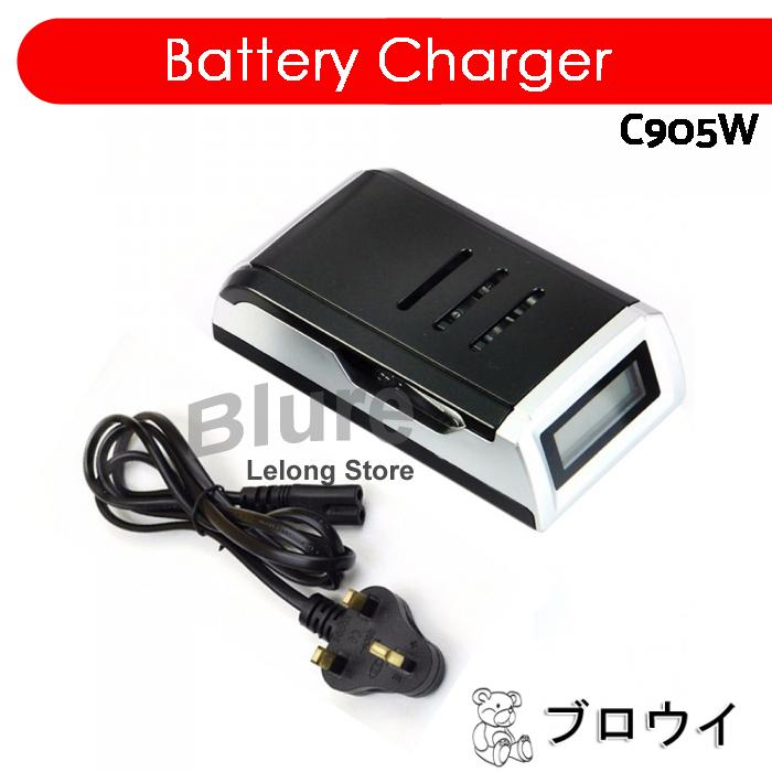 US Plug Free P/&P C905W 4 Slots LCD Charger for AA AAA NiCd NiMh Batteries