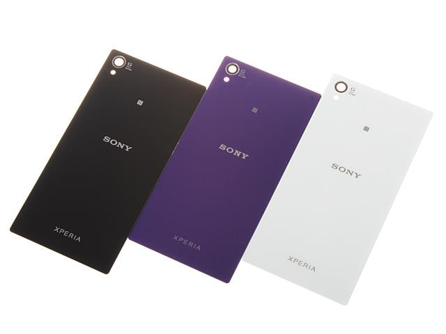 sony xperia z1 purple. battery back cover sony xperia z1 l39h c6903 c6906 with tape ready purple