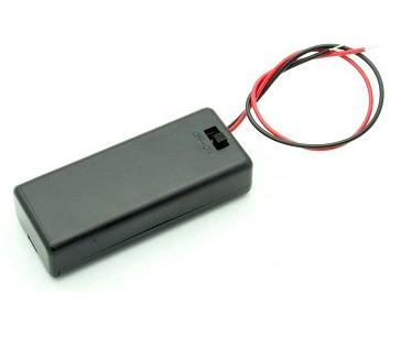 Battery Holder for 2 X AAA Battery with ON-OFF Switch