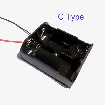 Battery Holder for 2 X C Type Battery Casing Box Leads
