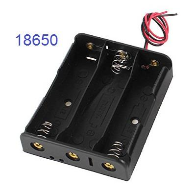 Battery Holder for 3 X 18650 Battery Compartment