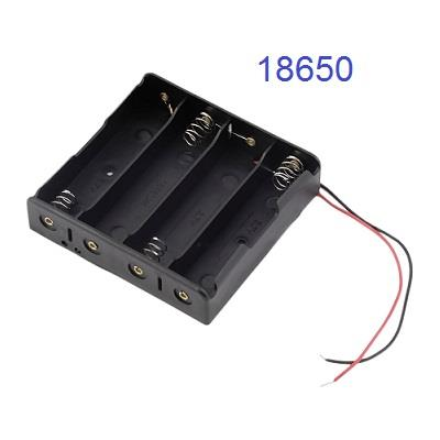 Battery Holder for 4 X 18650 Battery with Wires