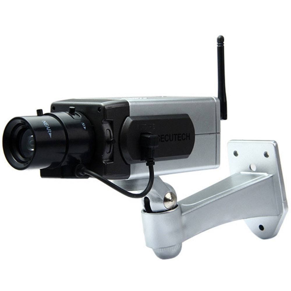 BATTERY POWERED PRACTICAL ECONOMIC DUMMY CCTV SECURITY CAMERA WITH ACT..
