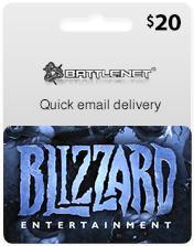 Battle.Net Gift Card 20 USD (US) (end 7/27/2018 12:51 PM)