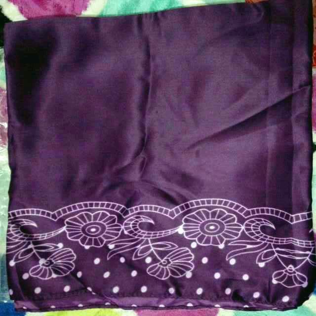 Bawal Purple Dot Satin