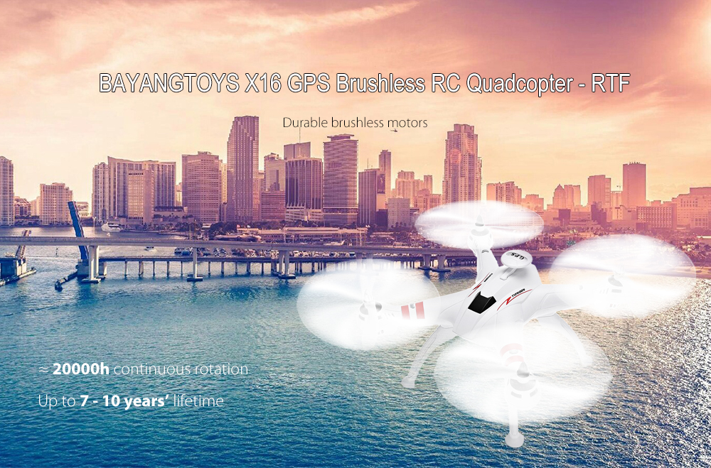 BAYANGTOYS X16 GPS Brushless RC Quadcopter RTF Geomagnetic