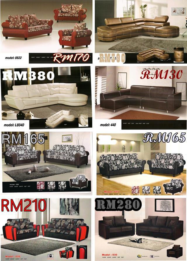 Bayaran Ansuran Bulanan Murah Dan Mewah Untuk Set Ruang Tamu Sofa