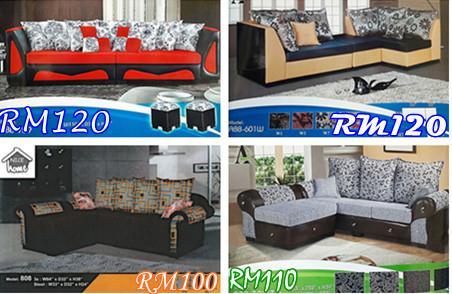 Bayaran Ansuran Bulanan Murah Dan Mewah Utk Set Ruang Tamu Lshape Sofa