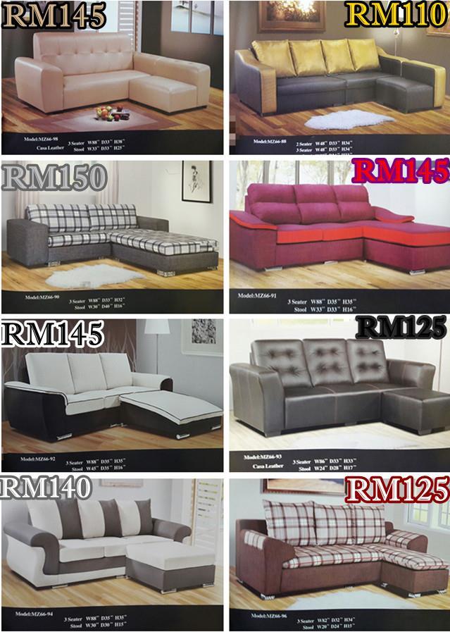 Bayaran Ansuran Bulanan Murah Mewah Untuk Set Ruang Tamu L Shape Sofa