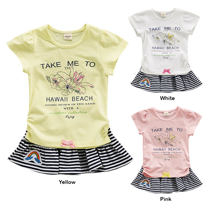 22b7751af206 BB968 Girl Summer Short Sleeve Skirts Two Piece Clothes Set. ‹ ›