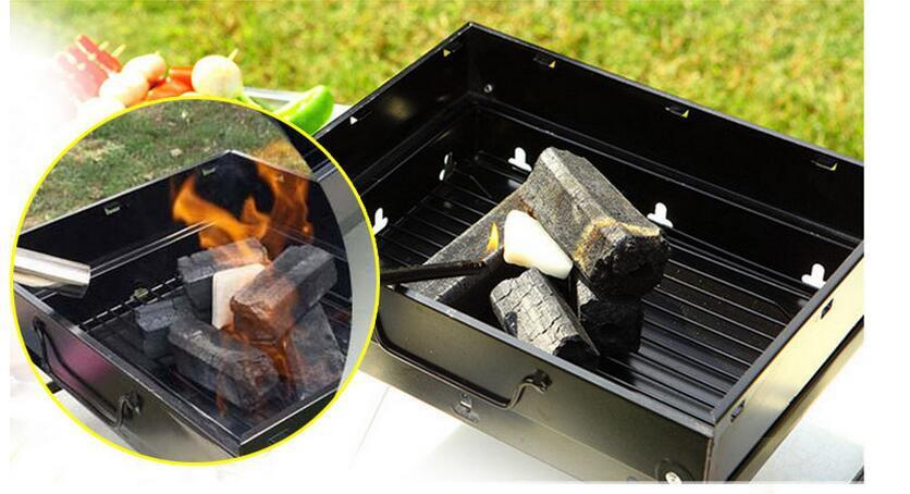 BBQ Grill Easy To Carry Foldable Set Black Stainless Steel
