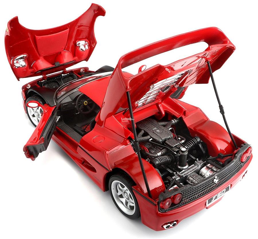 Bburago 1/18 Diecast Car Model Ferrari F50 (Red) 23cm