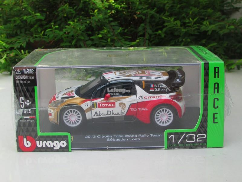 Bburago 1/32 Diecast #1 2013 Citroen Total World Rally Team Sebastien