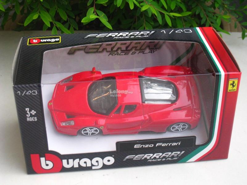 Bburago 1/43 Diecast Car Model Ferrari Enzo Ferrari (Red)
