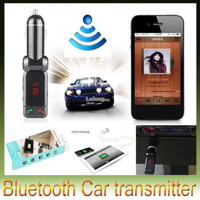BC06 Bluetooth In Car Dual Charger FM Transmitter Handfree Calling Mp3