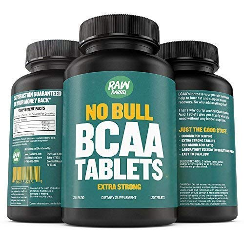 BCAA Tablets - 120 Pills, Extra Strong 1000mg Per Tablet - 2:1:1 Branched Chai