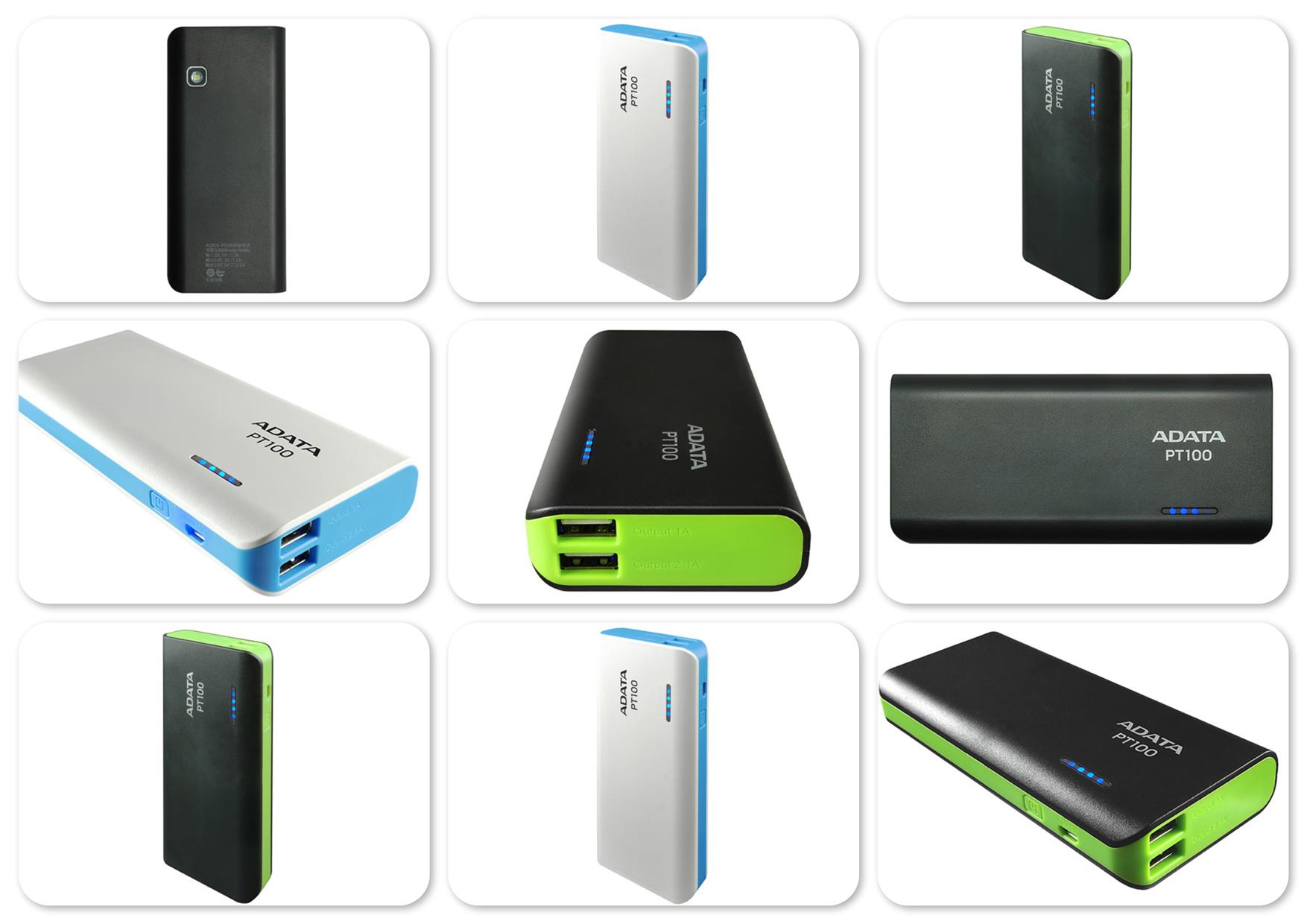 Bdotcom = Adata PT100 10000 mAh Universal Power Bank = Original