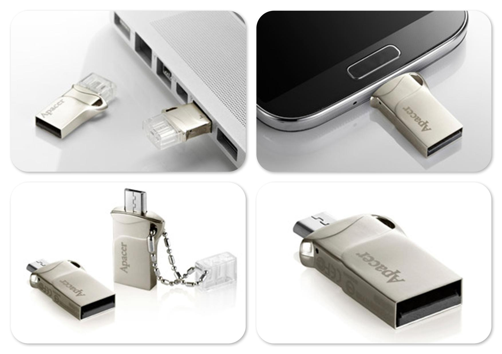 Bdotcom = APACER 32GB AH173 USB OTG Mobile Flash Drive Thumb Drive