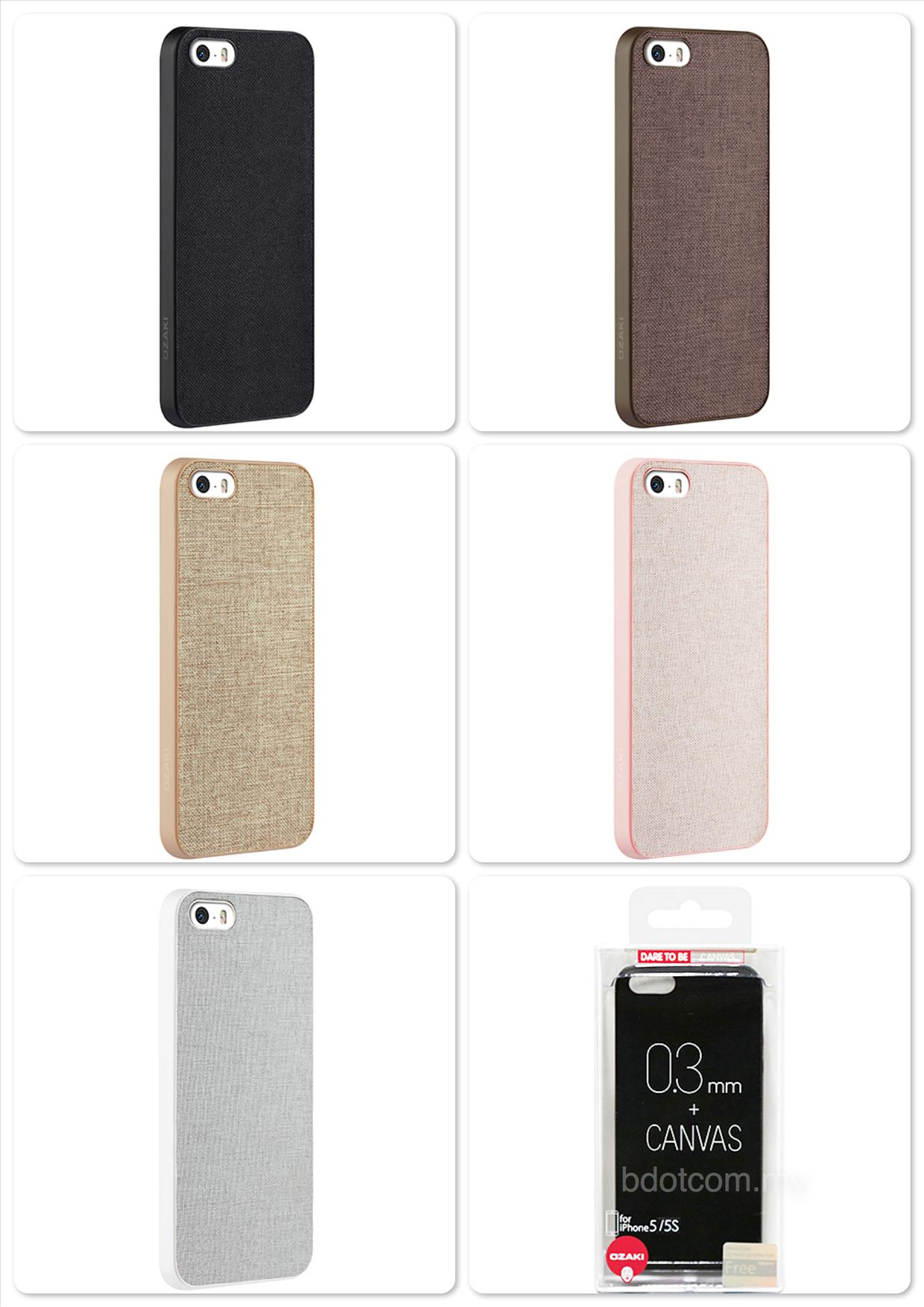 Bdotcom = Apple iPhone 5/5s Ozaki O!coat 0.3 + Canvas Ultra Slim Light
